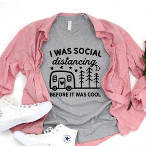 Kaos I Was Social Distancing Before It Was Cool by DistroJakarta.com