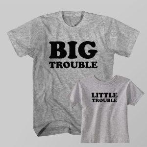 Kaos Couple Anak dan Ayah Big Troubles, Little Troubles by DistroJakarta.com