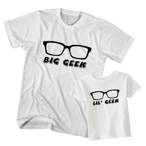Kaos Couple Anak dan Ayah Big Geek, Little Geek by DistroJakarta.com