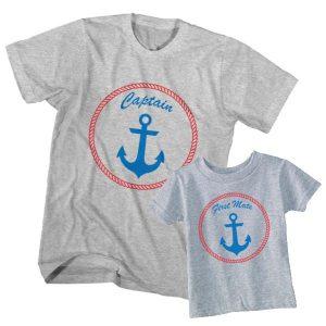 Kaos Couple Anak dan Ayah Pelaut Captain, First Mate by DistroJakarta.com