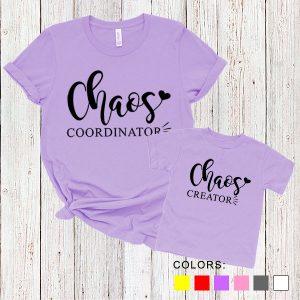 Kaos Couple Ibu dan Anak Chaos Coordinator. Chaos Creator. by DistroJakarta.com