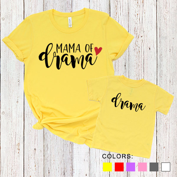 Kaos Couple Ibu dan Anak Mama Of Drama. Drama. by DistroJakarta.com