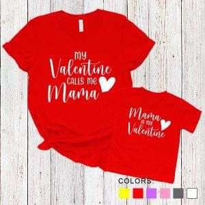Kaos Couple Ibu dan Anak My Valentine Calls Me Mama. Mama Is My Valentine. by DistroJakarta.com