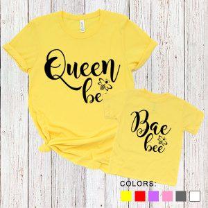 Kaos Couple Ibu dan Anak Queen Bee. Bae Bee. by DistroJakarta.com