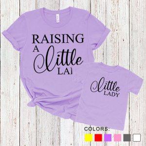 Kaos Couple Ibu dan Anak Raising A Little Lady. by DistroJakarta.com
