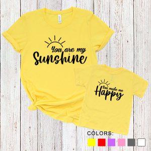 Kaos Couple Ibu dan Anak You Are My Sunshine. You Make Me Happy. by DistroJakarta.com