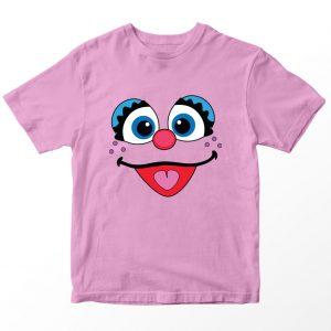 Kaos Sesame Street Abby Galabby, Warna Pink Umur 1-10 Tahun by DistroJakarta.com