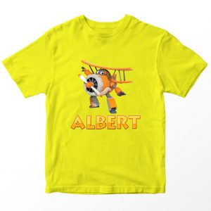 Kaos Super Wings Albert, Kuning Umur 1-10 Tahun by DistroJakarta.com