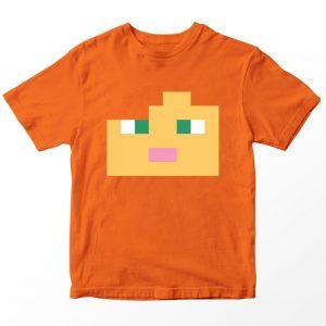 Kaos Minecraft Alex, Warna Oranye, Umur 1-10 Tahun by DistroJakarta.com