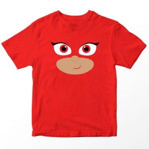 Kaos Kartun PJ Mask Amaya Owlette, Warna Merah Umur 1-10 Tahun by DistroJakarta.com