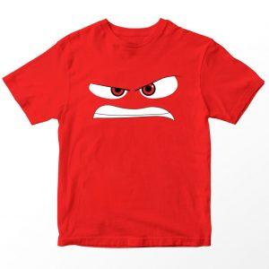 Kaos Inside Out Anger, Warna Merah Umur 1-10 Tahun by DistroJakarta.com