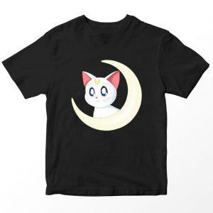 Kaos Sailormoon Artemis, Hitam Umur 1-10 Tahun by DistroJakarta.com