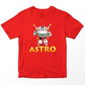 Kaos Super Wings Astro, Merah Umur 1-10 Tahun by DistroJakarta.com