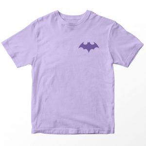 Kaos DC Superhero Batgirl Logo, Warna Lilac Ungu Pocket Umur 1-10 Tahun by DistroJakarta.com