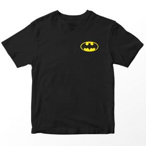 Kaos DC Superhero Batman Logo, Warna Hitam Pocket Umur 1-10 Tahun by DistroJakarta.com