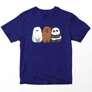 Kaos We Bare Bears Bear Cubs Pocket, Warna Pink Umur 1-10 Tahun by DistroJakarta.com