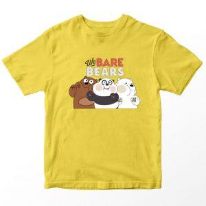 Kaos We Bare Bears Grizzly Nabrak Kaca, Warna Biru muda Umur 1-10 Tahun by DistroJakarta.com