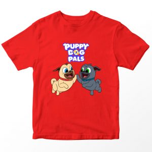 Kaos Puppy Dog Pal Bingo Rolly High Paws, Warna Merah 1-10 Tahun by DistroJakarta.com