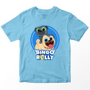 Kaos Puppy Dog Pal Bingo Rolly, Warna Biru Muda Umur 1-10 Tahun by DistroJakarta.com