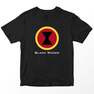 Kaos Superhero Marvel Black Widow, Warna Hitam Umur 1-10 Tahun by DistroJakarta.com