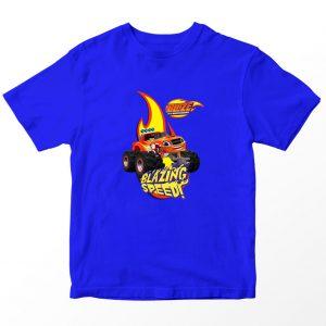 Kaos Blaze and Monster Machines Blazing Speed, Biru 1-10 Tahun by DistroJakarta.com
