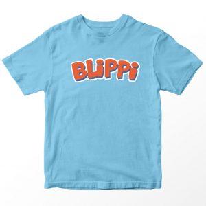 Kaos Blippi Logo, Warna Biru Muda Umur 1-10 Tahun by DistroJakarta.com