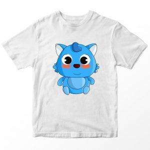 Kaos Baby Bus Blue Cat, Warna Putih Umur 1-10 Tahun by DistroJakarta.com
