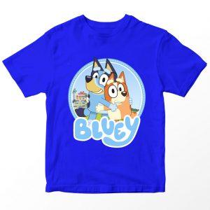 Kaos Bluey Bingo, Warna Biru Umur 1-10 Tahun by DistroJakarta.com