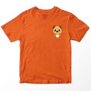 Kaos Baby Bus Bryan, Warna Oranye Pocket Logo Umur 1-10 Tahun by DistroJakarta.com