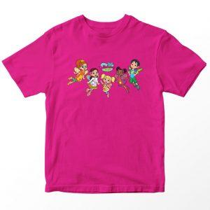 Kaos Butter Bean's Cafe Logo Friends, Pink Fushia 1-10 Tahun by DistroJakarta.com