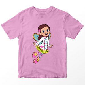 Kaos Butter Bean's Cafe Butterbean Kartun, Pink Umur 1-10 Tahun by DistroJakarta.com