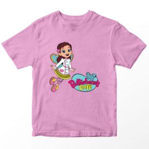 Kaos Butter Bean's Cafe Butterbeans Logo Kartun, Pink 1-10 Tahun by DistroJakarta.com