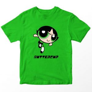 Kaos Powerpuff Girls Buttercup, Warna Hijau 1-10 Tahun by DistroJakarta.com