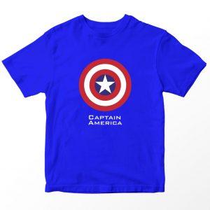 Kaos Superhero Marvel Captain America, Warna Biru Umur 1-10 Tahun by DistroJakarta.com