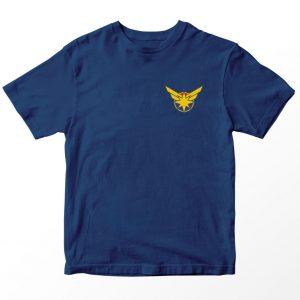 Kaos Superhero Marvel Captain Marvel Logo, Warna Biru Navy Pocket Umur 1-10 Tahun by DistroJakarta.com