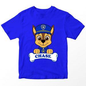 Kaos Paw Patrol Chase Bone, Warna Biru Umur 1-10 Tahun by DistroJakarta.com