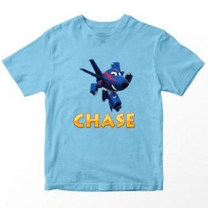 Kaos Super Wings Chase, Biru Muda Umur 1-10 Tahun by DistroJakarta.com