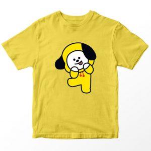 Kaos BT21 BTS Chimmy, Warna Kuning Umur 1-10 Tahun by DistroJakarta.com
