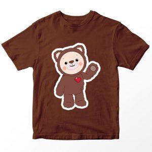 Kaos Rainbow Ruby Choco The Bear, Warna Coklat Umur 1-10 Tahun by DistroJakarta.com