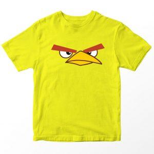 Kaos Angry Birds Chuck, Warna Kuning, Umur 1-10 Tahun by DistroJakarta.com