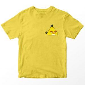 Kaos Angry Birds Kuning, Chuck Pocket Logo Umur 1-10 Tahun by DistroJakarta.com