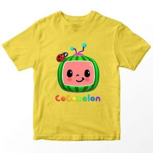 Kaos Cocomelon, Warna Kuning Umur 1-10 Tahun by DistroJakarta.com
