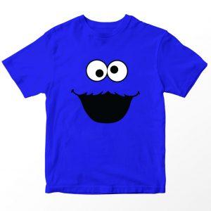 Kaos Sesame Street Cookie Monster, Warna Biru Umur 1-10 Tahun by DistroJakarta.com
