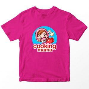 Kaos Cooking Mama Logo, Warna Pink Fushia Umur 1-10 Tahun by DistroJakarta.com