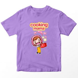 Kaos Cooking Mama, Warna Lilac Ungu Muda Umur 1-10 Tahun by DistroJakarta.com