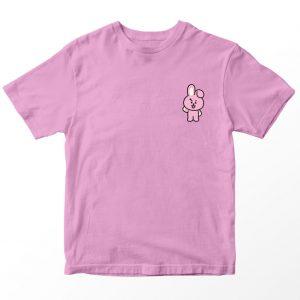 Kaos BT21 BTS Cooky Pocket, Warna Pink Pocket Umur 1-10 Tahun by DistroJakarta.com