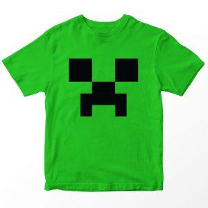Kaos Minecraft Creeper, Warna Hijau, Umur 1-10 Tahun by DistroJakarta.com