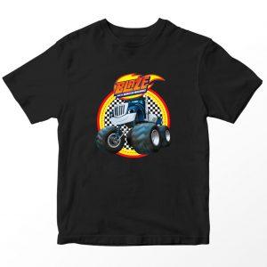 Kaos Blaze and Monster Machines Crusher Logo, Hitam 1-10 Tahun by DistroJakarta.com