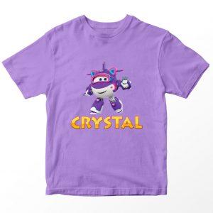 Kaos Super Wings Crystal, Ungu Umur 1-10 Tahun by DistroJakarta.com