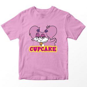 Kaos Puppy Dog Pal Cupcake Kartun, Warna Pink Umur 1-10 Tahun by DistroJakarta.com